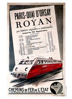 Paris - Quai d'Orsay, Royan Orsay, Poitiers, Ticket, Paris, Paths, Iron, Montmartre Paris, Paris France