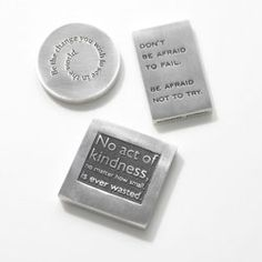"LOVE, Love, Love these!  For EVERYONE! The world needs MORE ""self efficacy!"" Judy Vilmain Paperweights - As seen on Oprah.com"