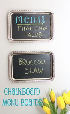 Mirabelle Creations: {Apartment Decorating Ideas} - Kitchen DIY Projects - Chalkboard Menu Boards