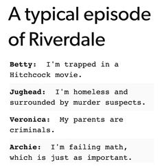 I ship all the characters in <i>Riverdale</i> with a better family life.