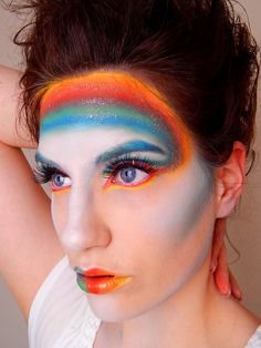Rainbow Makeup by Carina Neff