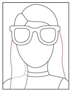 Draw a Portrait with Sunglasses · Art Projects for Kids Projects For Kids, Crafts For Kids, Arts And Crafts, Drawing Projects, Art Projects, Self Portrait Art, Portrait Ideas, Human Body Activities, Kids Canvas Art