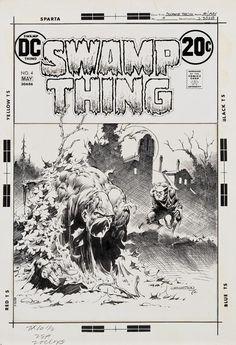 Bernie Wrightson signed original cover art for Swamp Thing Horror Comics, A Comics, Comic Book Artists, Comic Books Art, Swamp Thing Dc Comics, Bernie Wrightson, Comic Book Panels, Comic Book Collection, Comic Drawing