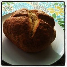 no yeast bread made with fresh dried rosemary and roasted garlic butter, yum! Yeast Free Breads, No Yeast Bread, No Rise Bread, My Recipes, Baking Recipes, Snack Recipes, My Favorite Food, Favorite Recipes, Crock Pot Bread