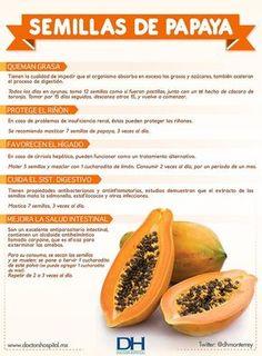 ¿Para que sirven las semillas de papaya? #infografia #papaya * LEE - CONSUME PAPAYA PARA ACELERAR TU METABOLISMO → http://nutricionysaludyg.com/nutricion/papaya-perder-peso-metabolismo/
