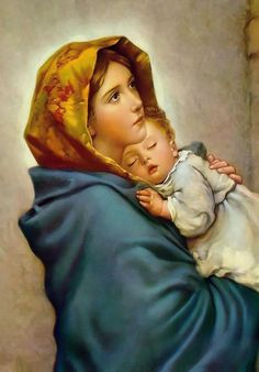 Virgin Mary and Child Jesus POSTER print Madonna of the Streets picture Blessed Mother image Holy Mary painting Catholic Christian Religious Holy Wall Art Decor Gift for Home Room Kids Children Madonna Und Kind, Madonna And Child, Mother Mary Images, Images Of Mary, Pictures Of Mary, Image Jesus, Jesus Christ Images, Religious Pictures, Jesus Pictures