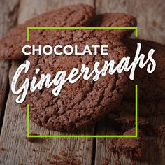 Spice World Minced Ginger and Squeezable Ginger help you makes these Chocolate Gingersnaps in a snap! Ginger Snaps, Ground Cinnamon, Cookie Desserts, Fresh Ginger, Stick Of Butter, Brown Sugar, Baking Soda, Spices, Cookies