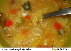 Kapustová polévka s ovesnými vločkami recept - TopRecepty.cz Cheeseburger Chowder, Thai Red Curry, Soup, Ethnic Recipes, Soups