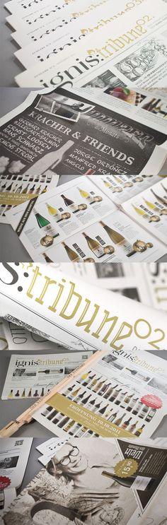 IGNIS VINOTHEKEN // Flugblatt:  By www.lunik2.com #leaflet #print #branding #marketing #creative #wine