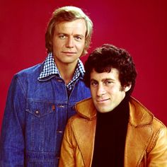 Paul-Michael Gaser and david Soul as Starsky and Hutch in the 70's