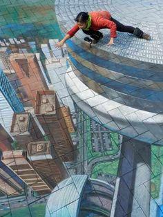ustedes saben que a mi me fascina el arte urbano en 3d
