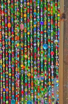 Beaded curtain-Glass Beaded Suncatcher- Window #housewares #homedecor @EtsyMktgTool http://etsy.me/2kpDMYs #beadedcurtain #windowcurtain