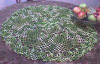 Arte em Crochet: Toalhinha redonda em crochet