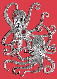 ghost in the machine - Octopusses byRachel Russell