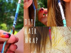 DIY Summer Hair Wraps! ☼ - YouTube