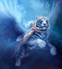Oui, un tigre blanc, ça peut voler.