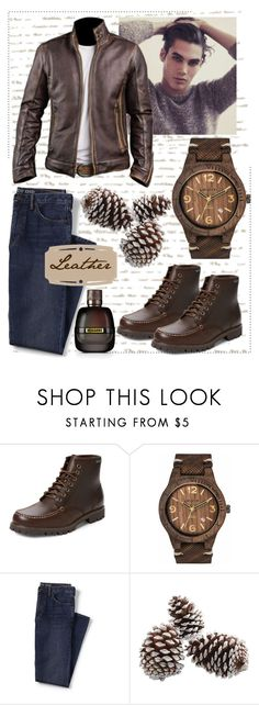 """""""Leather"""" by jamielynn2323 ❤ liked on Polyvore featuring Eastland, WeWood, Lands' End, Missoni, men's fashion and menswear"""