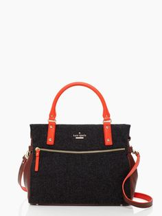 cobble hill little murphy kate spade LOVE, LOVE!! Gray flannel, pebble leather and Maraschino leather, LOVE IT!