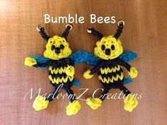 Rainbow Loom BEE. Designed and loomed by MarloomZ Creations. Click photo for YouTube tutorial. 04/24/14.