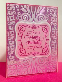 Tweedcurtain Productions: Birthday Card Challenged No More!
