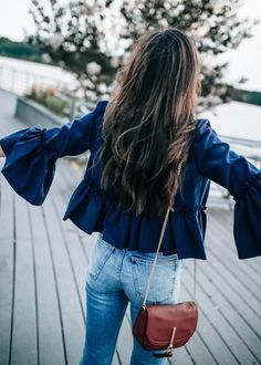 Ruffles on the sleeves of a shirt are everything