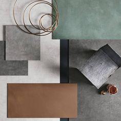 לוח השראה של חברת REFIN סדרת גרניט פורצלן מטאלי סדרת FOIL Bend Machine, House Tiles, Large Format, Porcelain Tile, Modern House Design, Metallica, Stoneware, How To Draw Hands, Spa
