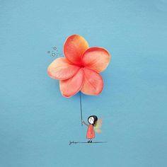 Risultati immagini per jesuso ortiz Art And Illustration, Art Sketches, Art Drawings, Pressed Flower Art, Creative Artwork, Arte Floral, Flower Wallpaper, Cartoon Wallpaper, Cute Wallpapers
