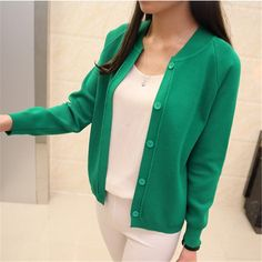 Autumn spring New style Women Cardigan Sweater Female O-Neck Knitted C – Mitilen.com