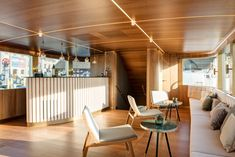 The ship, originally built in the has long served as a scheduled-service and excursion vessel for the Lake Constance Shipping Company. Fritz, Boat Design, Restaurant, Conference Room, Loft, Bed, Building, Table, Furniture