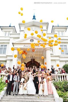 Have your guests let balloons go when you exit the church or at the end of your ceremony at the processional.