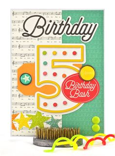 Choosing the right 5 year old birthday card is easy when you find a number birthday card with fifth birthday wishes right on the front. #thecardkiosk