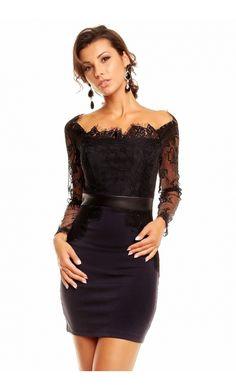 robe fourreau manches courtes noire robes fourreau fourreau et robes. Black Bedroom Furniture Sets. Home Design Ideas