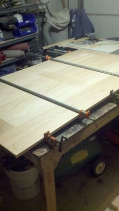 Staircase landing glue-up