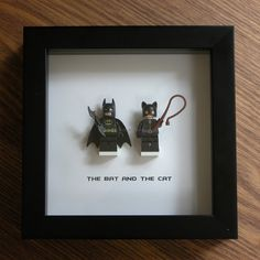 LEGO Wall Art Batman and Catwoman by GeeksAndNerdsStudio on Etsy