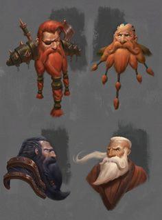 Dwarves sketches, Ugo Chiola on ArtStation at https://www.artstation.com/artwork/dwarves-sketches