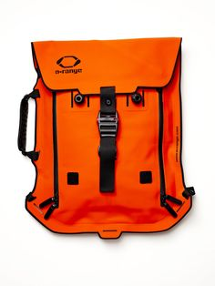 Shop - Men's Accessories - Bags - Canvas - MODULAR BACKPACK - Orange - Man Of The World Magazine Orange Backpacks, Cool Backpacks, Edc, Rare Clothing, Waterproof Backpack, Designer Backpacks, Swagg, My Bags, Luggage Bags