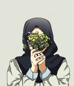 Wallpaper for android and iphone Girl Cartoon, Cartoon Art, Tmblr Girl, Hijab Drawing, Islamic Cartoon, Woodland Animal Nursery, Hijab Cartoon, Islamic Girl, Muslim Girls