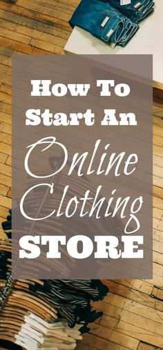 how to start an online clothing store using Shopify which is one of the largest eCommerce platforms for businesses worldwide. This step by step guide shows you how to set up your own online store and achieve eCommerce success fast Store Names Ideas, Shop Name Ideas, Starting A Clothing Business, Online Business, Starting An Online Boutique, Selling Online, Business Inspiration, Business Ideas, Business Help