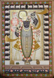 Shrinathji 7 traditional art by Pichwai Art | ArtZolo.com