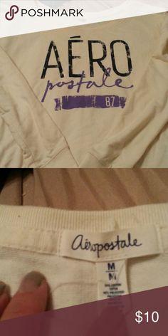 Aeropostale sweat shirt White Aeropostale sweat shirt Aeropostale Tops Sweatshirts & Hoodies
