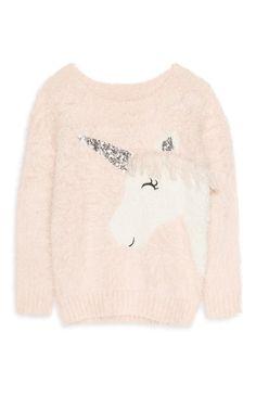 Younger Girls Fluffy Unicorn Jumper Unicorn Hat, Unicorn Outfit, Unicorn Kids, Stylish Outfits, Cute Outfits, Girls Jumpers, Girl Trends, Print Ideas, Kids Hats