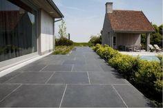 Tuintegels zwart leisteen 80x80 cm actie terrastegels zwart