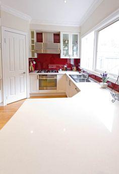 Kitchen Update Interior Design Cheltenham White Shimmer CaesarStone