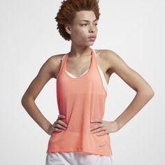 c3371c3d55414e Nike Miler Women s Running Tank - Orange Running Women