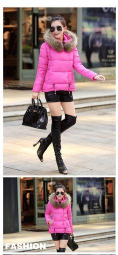 Ceket Kaban Kadın Pamuk Aşağı Parkas Lüks Büyük Kürk Yaka Hood Kalın Coat Dış Giyim 6colors 2015 Yeni Kış Plus M 3XL-in Aliexpress.com üzerine Kadın Giyim gelen Down & Parkas ile | Alibaba Group