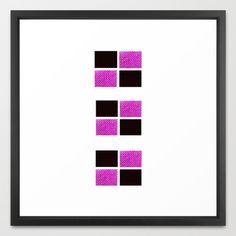 Blocks 1 Framed Art Print Free shipping for the unframed print! #art #geometric #freeshipping