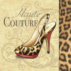 ☮ American Hippie Art ~ Fashion Shoe Illustration .. Haute Couture