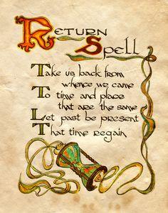 """Return Spell"" - Charmed - Book of Shadows"