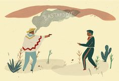 Mexican stand off print by Naomi Wilkinson