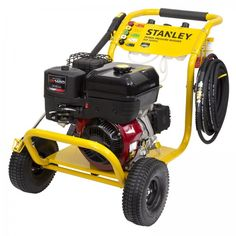 Stanley 3600PSI 9hp Briggs & Stratton Petrol Pressure Washer, 3 Year Warranty. The Stanley 4 Stroke 9HP 3600PSI Petrol Pressure Washer is ideal for cleaning your concrete driveway, paved areas, car, motorbike, truck, walls or garden features. The 4 Stroke Briggs and Stratton engine provide the best performance and value for your pressure washer. Pressure Washers, Concrete Driveways, Garden Features, Stained Concrete, Water Flow, Mold And Mildew, Outdoor Power Equipment, Engine, Commercial